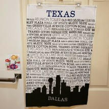 DII Design Imports Dallas Texas Cotton Kitchen Towel Points of Interest ... - $18.68