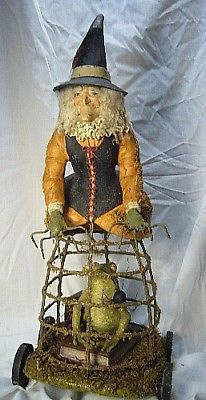 FABULOUS!Bethany Lowe Hocus Pocus Witch  with Frog & Spider