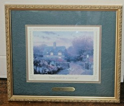 Thomas Kinkade Open Gate Sussex Print Picture w COA Come Inside for a Wa... - $12.20