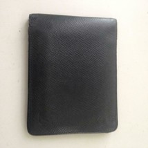 Authentic Louis Vuitton Black Taiga Leather Mens Multiple Wallet 4inx4in... - $185.20