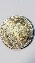 1992 Mo 1 ounce SILVER ONZA LIBERTAD MEXICO Toned Coin  image 2