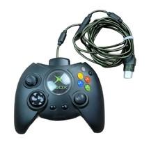 Microsoft Xbox OEM Fat Duke Controller X08-17160 Wired Black Breakaway +... - $38.99