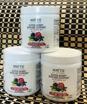 3 Pack Maty's All Natural Super Berry Immune Support + Vitamin D3 Exp 08/22 New - $39.59