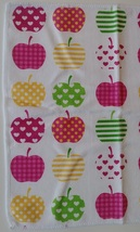"APPLE HEART MICROFIBER TOWELS 6-pack Dishcloths 12""x12"" Pink Dish Cloths Apples image 3"