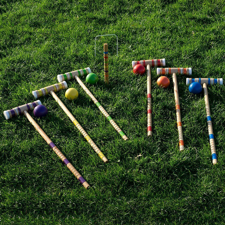 Bud Light 6 Player Complete Game Croquet Set (24-Piece)