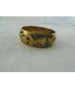 "Vintage Brass Bangle Cutwork Open work Bracelet 2 3/4"" diameter - $7.91"