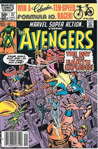 Marvel Super Action Comic Book #37 The Avengers 1981 VERY FINE- - $3.75