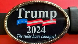TRUMP 2024 Epoxy Belt Buckle  - The Rules Have Changed!  - NEW! - $16.78
