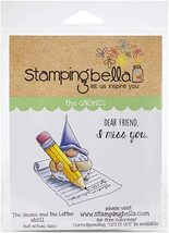 Gnome and the Letter. Stamp. Stampingbella