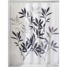 "InterDesign Leaves Shower Curtain - Black/Gray/White (72"" x 72"") - $17.98"