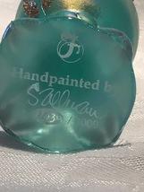 Fenton Glass Egg Hand Painted Iridized Robins Egg Blue Limited Edition image 5