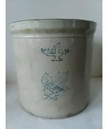 "Western Pottery Stoneware Crock 4 Gallon 11 1/2"" T x 12"" D - $118.79"