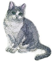 Amazing Custom Cat Portraits[Gracie Cat] Embroidered Iron On/Sew patch [... - $9.89