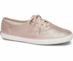 Keds WH58932 Women's Champion Glitter Suede Rose shoe, 5.5 Med - $49.45