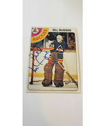 1978-79 OPC SIGNED CARD BILL MCKENZIE ROCKIES SCOUTS RED WINGS ENGLAND U... - $34.99