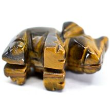 Tiger's Eye Gemstone Tiny Miniature Elephant Figurine Hand Carved in China image 6