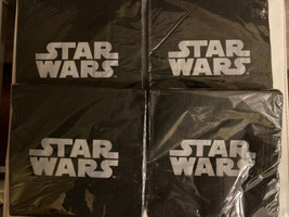 4! Star Wars  Lunch Napkins Striped Edge Birthday Party Supplies 16 Per Package - $15.43