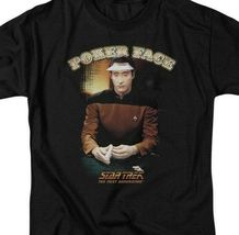 Star Trek The Next Generation Data Poker Face Sci-Fi graphic t-shirt CBS517 image 3