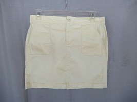 Ann Taylor LOFT skirt pencil straight  Large  yellow above knee unlined - $10.73