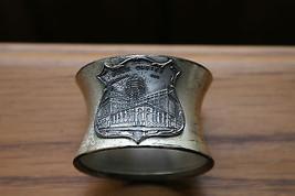 Old Vintage Souvenir Napkin Ring Quadruple Plate Post Office Chicago IL ... - $34.99