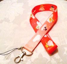 Pretty Sailor Moon Anime Pink Lanyard Strap One Piece Cell Phone Key Chain NEW - $6.00