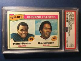1977 Topps Rushing Leaders #3 W.Payton & O.J. Simpson PSA 7 NM - $48.30