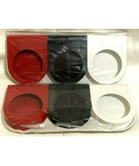 "2 Ikea Motsta Packages 6 Metal Candle Holders Black Red White 2.25"" Diameter New - $12.77"
