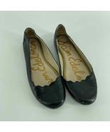 Sam Edelman Finnegan Black Scallop Edge Leather Flat Womens 9 - $25.00