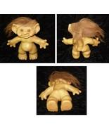 Troll Doll Vintage Toy Figure Brown Hair Uneeda Wishnik - $29.99