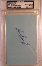 Hal Reniff Yankees Autographed 3X5 Index Card PSA/DNA Certified - $19.34