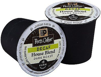 Peet's Coffee Decaf House Blend Coffee, 88 count K cups, FREE SHIPPING !