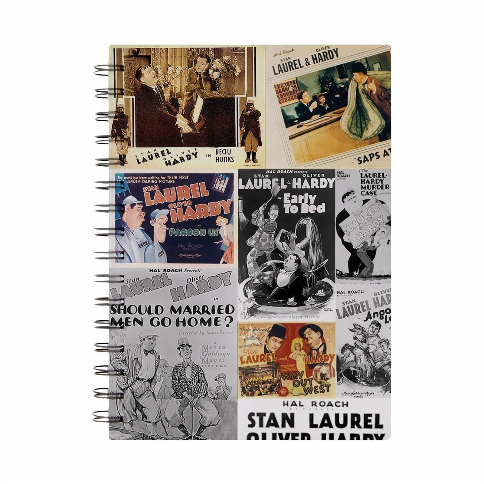 Laurel & Hardy Coloured Montage A5 Notebook
