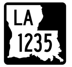Louisiana State Highway 1235 Sticker Decal R6456 Highway Route Sign - $1.45+