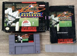 Ken Griffey Jr. Presents Major League Baseball Game for Super Nintendo S... - $12.59