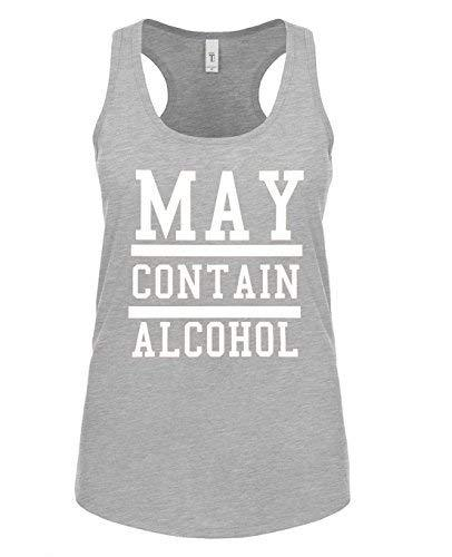 Primary image for Womens May Conatin Alcohol Funny Drinking Racerback Tank Top X-Large Heather Gra