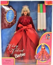Barbie Doll Very Velvet Includes Stickers and Color Markers 1998 # 20528 - $24.99