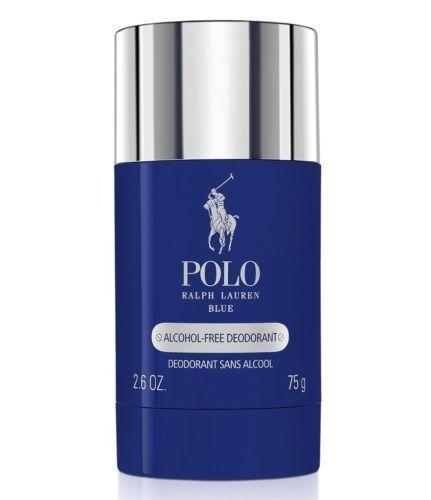 Polo BLUE Perfume Ralph Lauren 2.6 Oz 75 G Alcohol Free Deodorant Stick for Men