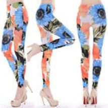 Womens Sexy Leggings Stretch (Sun Flower Print) Fitte Anklet M Smooth Fi... - $170,77 MXN