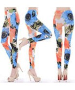 Womens Sexy Leggings Stretch (Sun Flower Print) Fitte Anklet M Smooth Fi... - $10.30