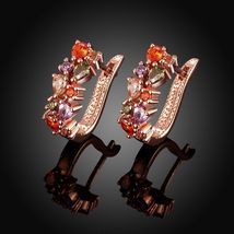 Colorful Ear Clip Dinner Earrings Made with Swarovski Elements image 5