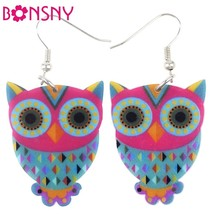 Acrylic Drop Owl Earrings Long Dangle Earring Brand Fashion Jewelry For ... - $9.19