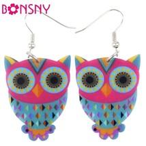Acrylic Drop Owl Earrings Long Dangle Earring Brand Fashion Jewelry For Women 20 - $9.19
