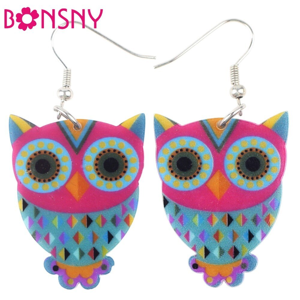 Primary image for Acrylic Drop Owl Earrings Long Dangle Earring Brand Fashion Jewelry For Women 20