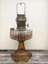 Vintage Aladdin Oil Lamp model B Corinthian 1935-1936 Dark Amber & Clear... - $175.00