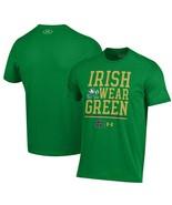 Mens Under Armour Notre Dame Irish Wear Green Short Sleeve T-Shirt  Mult... - $25.48