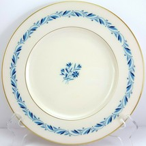 "Lenox Blueridge Luncheon Plate Ivory Blue Floral Scrolls Gold Trim 9-1/8"" - $13.86"