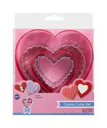 Wilton 4 pc Nested Cookie Cutter Set Heart Valentines Wedding Shower - $4.94