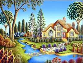 5D Diamond Painting Colorful Stepping Stones Home Kit - $14.99+