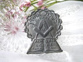 Vintage Freemason Judaica Masonic Medal Achidan Lodge No. 22 Ramat Gan  ... - $75.00