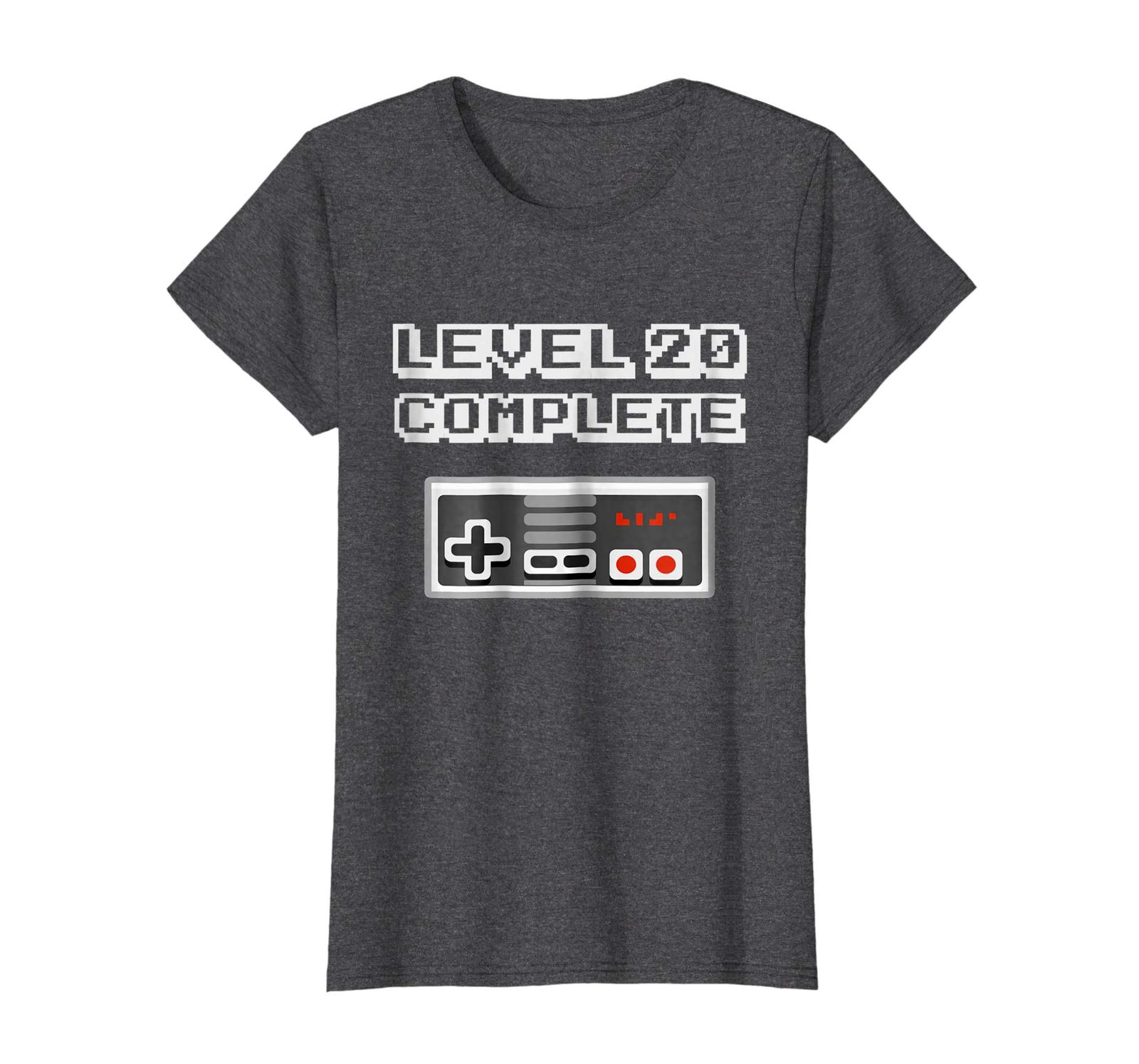 New Shirts - Level 20 Complete Retro Video Gamer 20th Birthday Gift Shirt Wowen